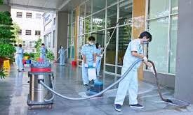 vệ sinh văn phòng sau xây dựng